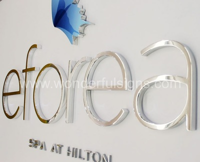 Polished Metal Letters