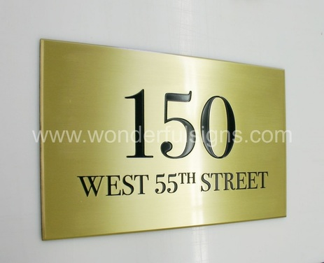 Brass Sign Plaque