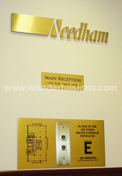 Brass Letters and Plaques