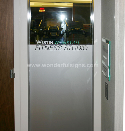Frosted Glass Signs