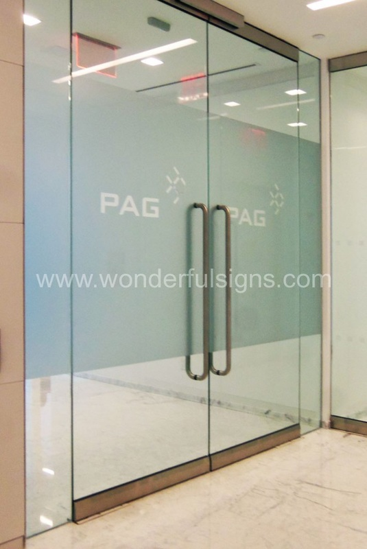 Frosted Logo for Entrance Door & Frosted Glass Signs \u0026 Film - Wonderful Signs New York - Full ... Pezcame.Com