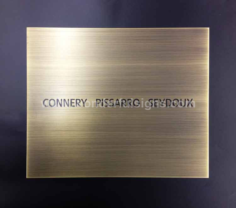 Wonderful Signs Makes Metal Sign Plaques With Etched