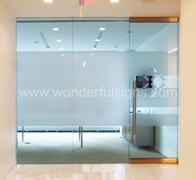 Frosted Office Glass Doors