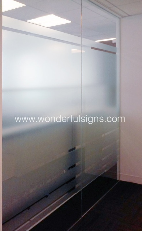Frosted Glass Signs Amp Film Wonderful Signs New York
